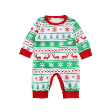 Wholesale Night Wear Sets Cartoon One-piece Christmas Cotton Kids Pajamas Baby Clothes