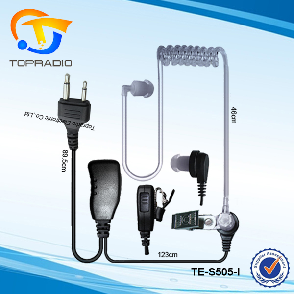 Topradio Handheld Transceiver PTT Air Tube Earbud For Icom IC-F3 IC-F3S IC-F4 IC-F4S IC-F4SR IC-F4TR IC-F10 In Ear Headset