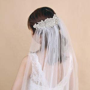 7f78c95672c Most Popular Bridal Wedding Veil for Hair Accessories Rhinestone Bridal Veil