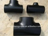 SCH80 carbon steel seamless butt welded pipe reducing tee