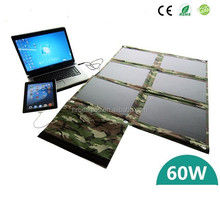 60W DC12V Portable Solar Laptop Charger