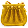Handmade moroccan yellow leather handbag hand embossed bag TES009AO