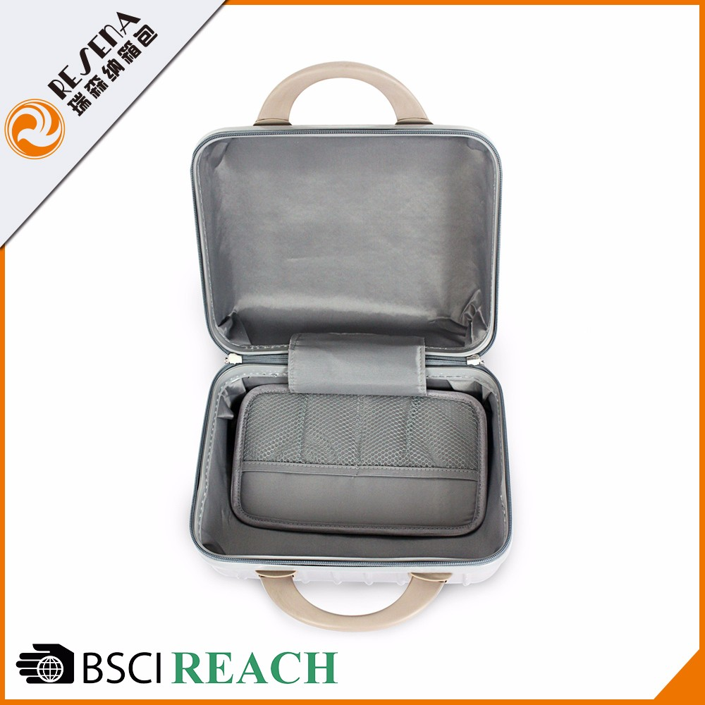 China Supplier commoned lock ABS+PC hand luggage bags cabin size trolley bag case trip