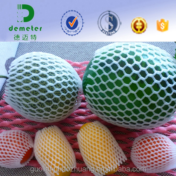 China Supply Factory Directly Food Grade Polythene Expanded Red Plastic Foam Tube Netting