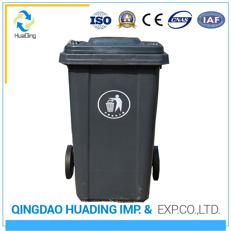 Plastic recycle rubber wheels rubbish chute dustbin