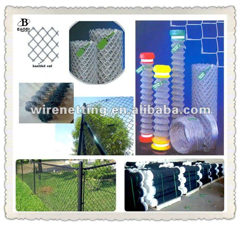 Galvanized or Plastic Coated chain link fence extensions