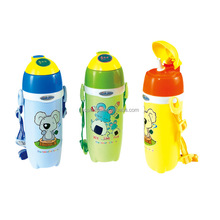 550ml Cute koala Travel Tumbler Children Water Drinks Bottle With Shoulder Strap flip Straw