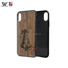 Alibaba Wholesale wood mobile phone cover for iPhone 8, full protective pattern wooden case for iPhone 7