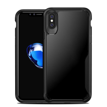 TPU Acrylic mobile phone case for iphone x 10, shockproof for iphonex case cover