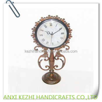 decorative metal table time clock
