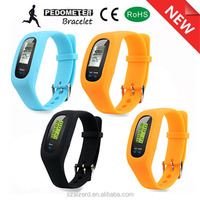 hot sale wholesale silicone bracelet pedometer