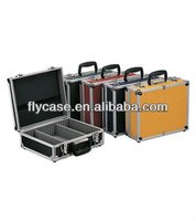 2014 new design aluminum tool case, aluminum suitcase for the tooll with handle and metal locks ,size 450*330*80MM