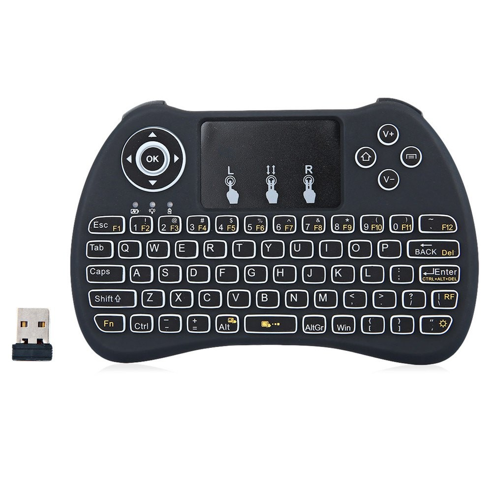 Mini qwerty keyboard with control keys smart fly Air mouse H9 backlit keyboard