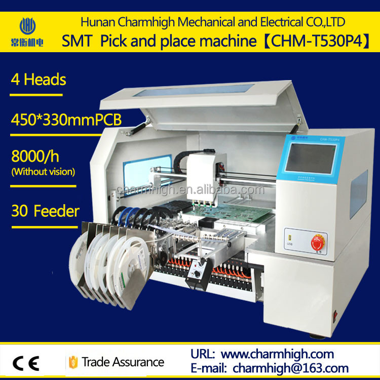 SMD LED Yamaha pneumatic feeder chip Mounting 4 heads machine Hotsell SMT LED pick and place machine