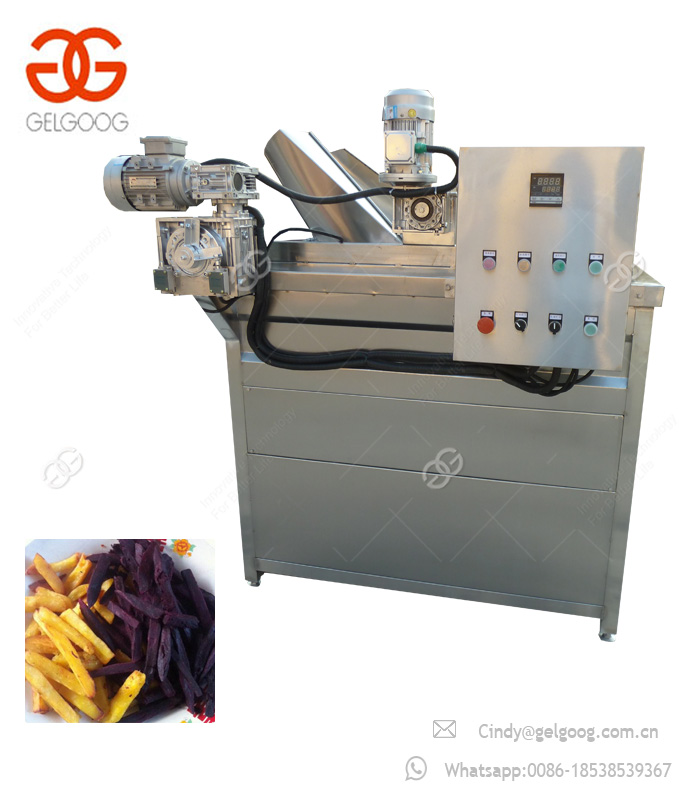 Hot Selling Automatic Groundnut Samosa Gas Deep Fryer Gari Frying Machine