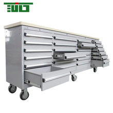 TJG Metal Tool Storage Box Type 96 Inch Rolling Tool Chest With Wooden Up