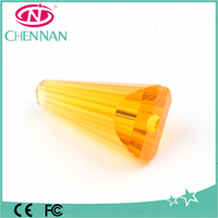 yiwu factory direct sale yellow loose crystal glass artemis drop beads trim