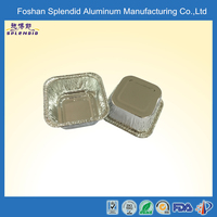 disposable small muffin square shapes food aluminum foil baking containers