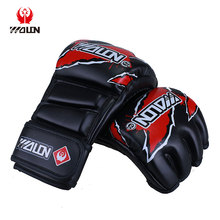 Customized OEM High Quality Leather MMA Gloves Boxing Gloves Sparring Gloves