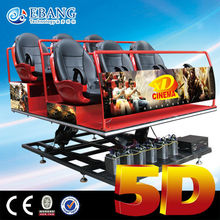Crazy sale hydraulic/ servo motor excited 7d cinema and 5d mo