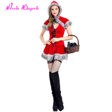 Big Discount Cosplay Holiday Hot Christmas Dress Santa Suit