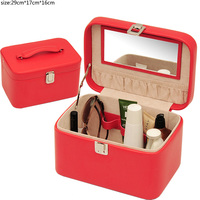 multifunction pu leather wholesale vanity cosmetic wholesale makeup case