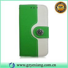 Hot Sale Luxury Leather Stand Case For Samsung Galaxy S4 Mini Cover