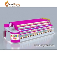 Modern candy cart candy display cart shopping mall kiosk on sale