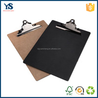 High quality cheap metal clipboard clips custom wooden clipboard with color