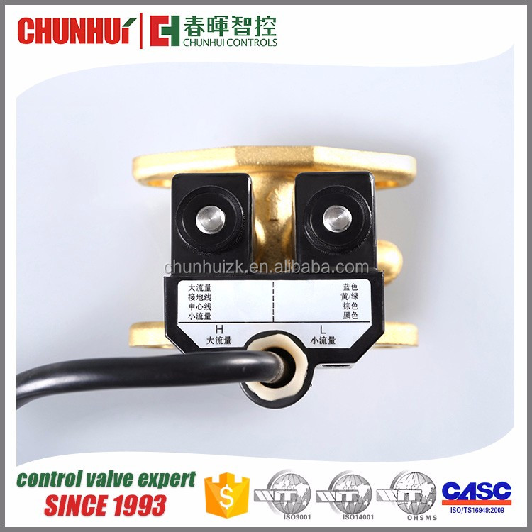 Factory Direct Sales oiling machine parts Dual-flow solenoid valve 220v ac