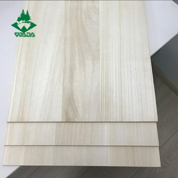 Edge glued board paulownia wood drawer sides