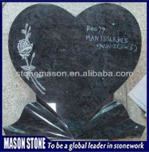 tombstone heart purple engraved granite memorial
