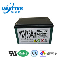 Deep cycle LiFePO4 battery pack 12v 35ah li ion battery for E bike & E scooter