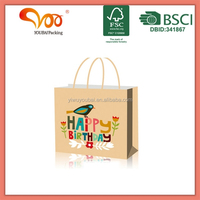 Happy Birthday Paper Friendly tote Gift Packing Euro Bag