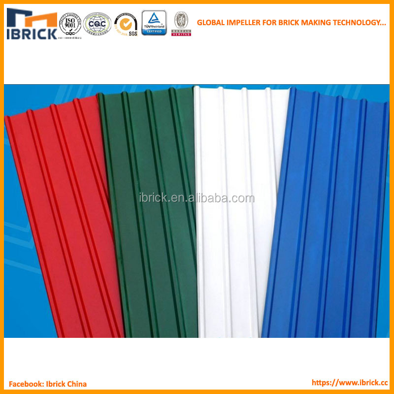 Red Color Plastic Spanish Roofing Tile Synthetic Resin