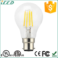 Glass Cover B22 E26 LED Filament Lamp 360 Degree 4W 6W A19 LED Bulb 5000K Cool White