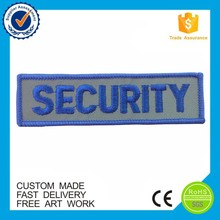 Wholesale reflective security iron-on custom embroidery military patches