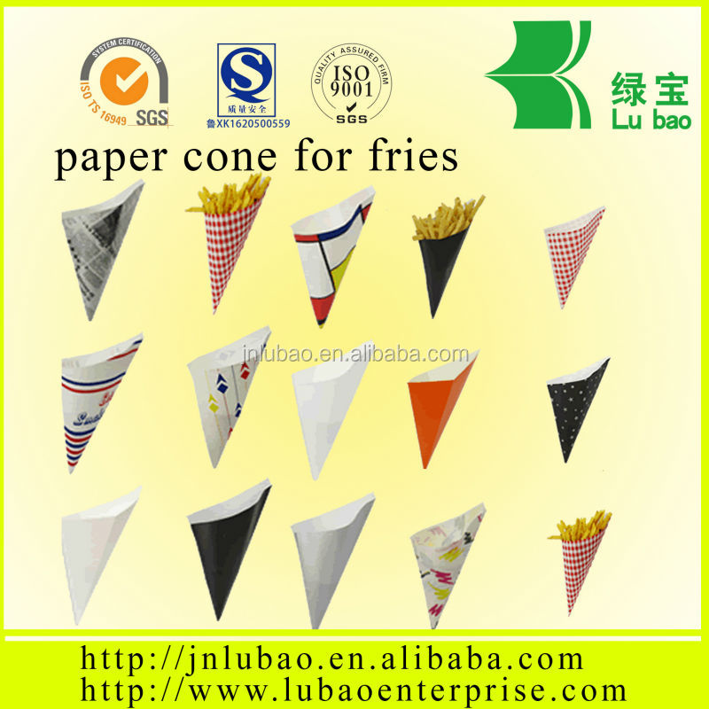 2016 New Style Food grade paper cone for fish and chips