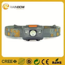 Best Promotional gift 3w led+2 red strobe customized long range headlamp