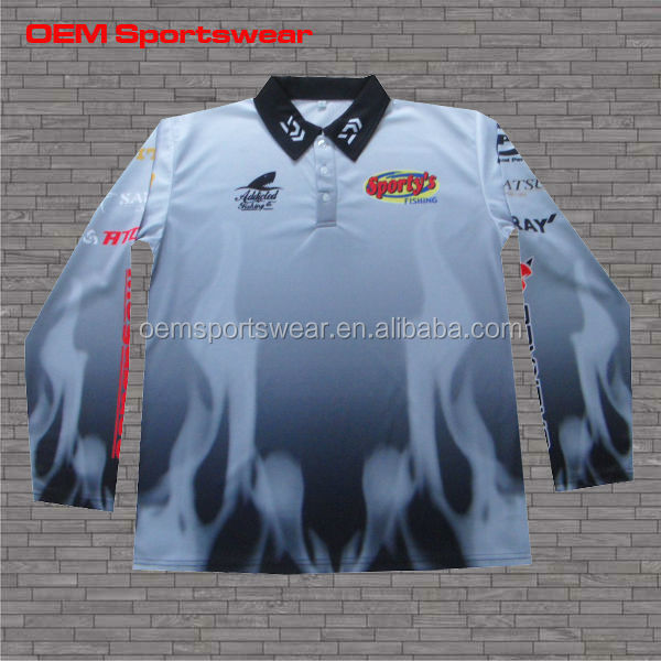 Long sleeve dry fit fishing shirt polyester shirt buy for Polyester fishing shirts