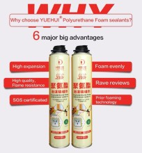 High quality waterproof polyurethane expanding spray pu foam sealant adhesive