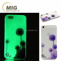 For apple iphone 5 se Colorful drawing glow in the dark soft TPU case for apple iphone se Cell phone cover