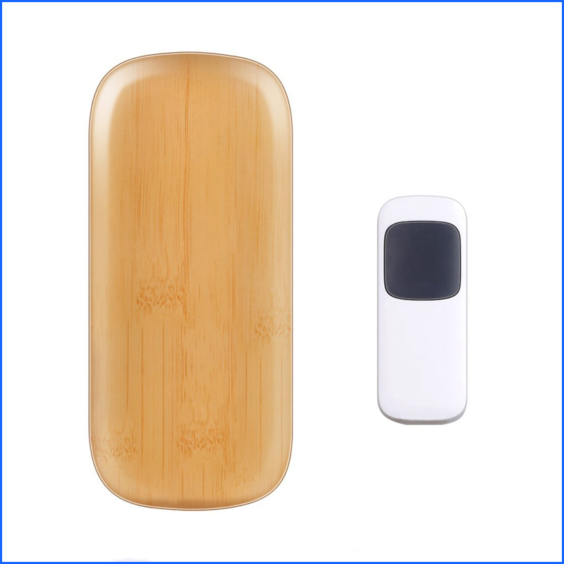 EU Plug 52 Tones Wireless Doorbell Smart Remote Control Door Bell Home Doorbell with LED Light and Waterproof Doorbell Button