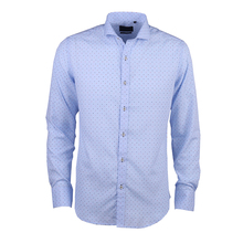 HIGH QUALITY LATEST DESIGN COTTON FABRIC EMBROIDERY MEN'S DRESS JACQUARD SHIRTS FOR MEN