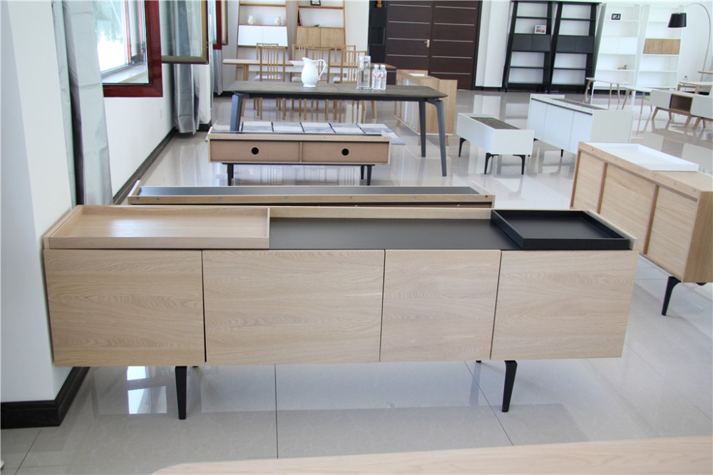 China factory lounge furniture high quality solid wood oak cabinets