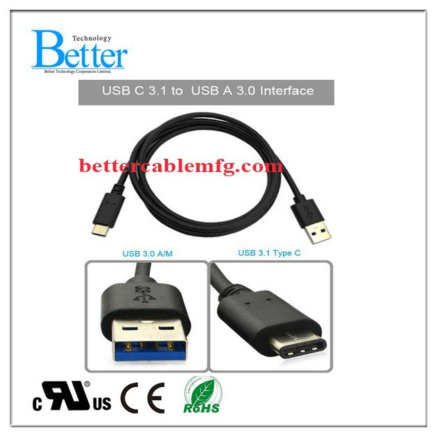high quality braided usb 3.1 type c charging sync data transfer cable