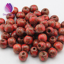 12mm round big hole wood beads for decoration and jewerly diy