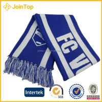 Jointop Factory Supply Adults Woven acrylic Label Football Fan Scarf