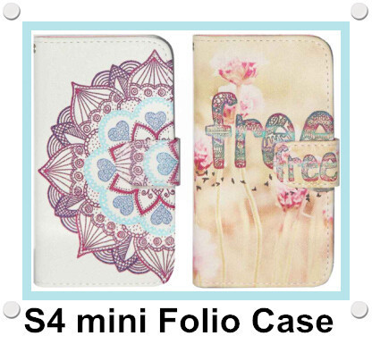 Fashion Painted Coque Housse Etui Wallet Leather Flip Case Cover for Samsung Galaxy S4 i9500 i9505 S4 mini i9190