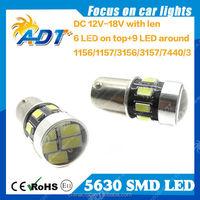 High Power 5630 LED Bulb 1156 BA15S BAU15S 15leds for BMW for AUDI Auto Parts